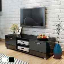 TV Schrank Fernsehtisch Lowboard Sideboard Hochglanz Schwarz/Weiß 120x40x34cm