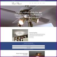 Fully Stocked Dropshipping HOME LIGHTING Website Business For Sale + Domain