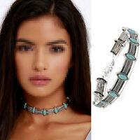 Boho Ethnic Retro Collar Choker Necklace Statement Bohemian Turquoise beaded one