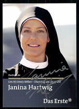 Janina Hartwig Um Himmels Willen Autogrammkarte Original Signiert ## BC 8983