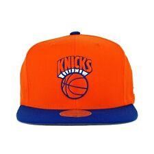 New York Knicks NBA Mitchell & Ness 2 Tone Orange Retro XL Logo Snapback Hat Cap