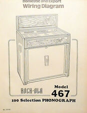 Rock-Ola Modell 467 Domestic & Export ausklappbare Schaltplan