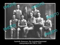 OLD LARGE HISTORIC PHOTO OF NASHVILLE TENNESSEE, LOCKELAND BASKETBALL TEAM c1925