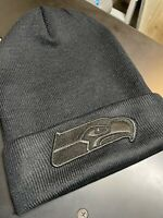 Black On Black Seahawks Beanie - 12th Man - Seattle Fans - Football Is Life