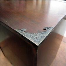 12 Antique Brass Desk Table Corner Protector Guard Wooden Jewelry Box