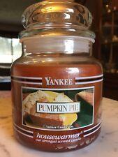 Yankee Candle Pumpkin Pie Black Band Vintage 14.5 Oz