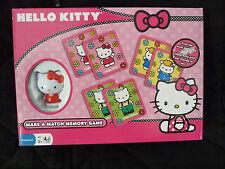 "Brand New Sealed Box ""Hello Kitty"" Make a Match Memory Game - Preschool 3+ (2 av"