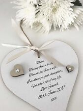 Mother Of The Bride Wedding Keepsake Gift Mum Personalised P62