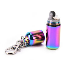 capsule lighter waterproof fire starter survival emergency keychain camp hike PB