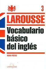 Vocabulario básico del Inglés. NUEVO. Nacional URGENTE/Internac. económico. AUTO