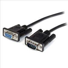 StarTech.com (2m) Tout Droit À Travers DB9 RS232 Série Câble - M/F (Noir)