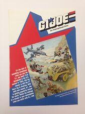 GI JOE COBRA 1988 LICENSING TRIFOLD ADVERTISING BROCHURE ART INFO HASBRO