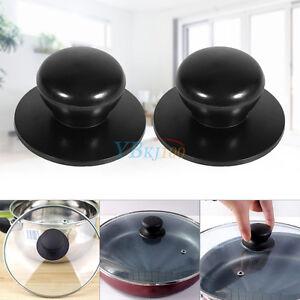 colore: nero creativo e utile Fliyeong 2 pomelli di ricambio per coperchio pentole e pentole da cucina in acciaio INOX