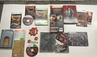 Xbox 360 Gears Of War 1, 2 Limited Edition Complete & 3 Limited Ed. Game Only!