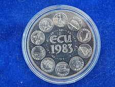 """TRESOR DU PATRIMOINE"" - MEDAILLE / Medal - EUROPE / Europa - ECU 1983 (BU)"