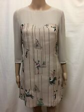 TED BAKER DRESS WOMENS ~ SIZE 1 OR 8 AU ~ NEW W/O TAGS CIRCUS PRINT WITH BEADS