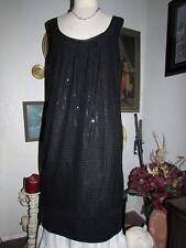 New York Company Black Sequin Sleeveless Sheath Party Dress Event Formal 16