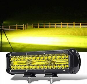 9 Inch Yellow LED Light Bar 180W Offroad Spot Flood Combo Driving Fog Lights
