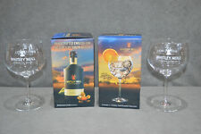 Pair Of Whitley Neill Balloon Large Glass Advertising Gin Bowl Goblet New Two 2x