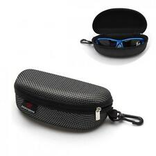 Zipper Glasses Sunglasses Hard Case Box Portable Protector Black Large Holder