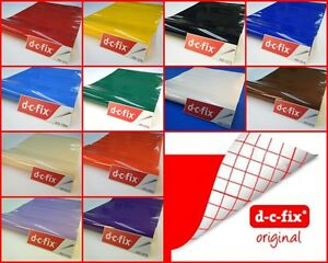Contact Paper Sticky Back Adhesive Gloss Plain Colours DC FIX Vinyl 2m x 45cm