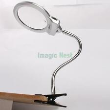 2.25X 5X 107MM 22MM Desktop LED Lamp Metal Hose Magnifier Magnifying Glass