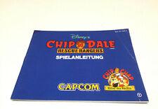 CHIP N DALE / CAPCOM NOTICE MANUEL NINTENDO NES VERSION NOE EN LOOSE