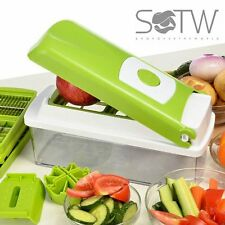 Genius Nicer Dicer Plus Multi Chopper 12 Pieces Fruit Vegetable Peeler Grater