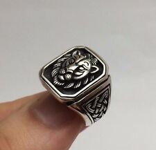 Turkish Jewelry Cool Lion Motif 925K Sterling Silver Men's Ring
