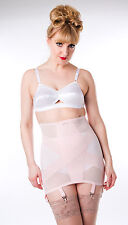 031 Powernet criss-cross girdle baby pink 6 straps S-5XL CLEARANCE