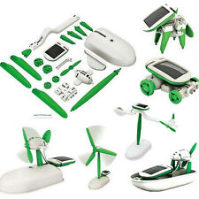 6 in 1 Creative DIY Educational Learning Power Solar Robot Kit Children Toy New