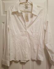 Ladies VERTIGO PARIS White Pleated Long Sleeve Blouse Top ~ XL ~ MSRP $230 ~ NWT