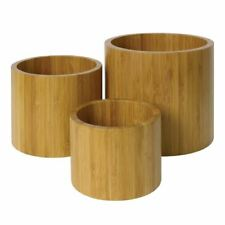 More details for olympia risers set of 3 made of bamboo include small medium and large