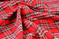 NAVIDAD Rojo Tela de tartán Burns Night peluche mantel estirada falda escocesa