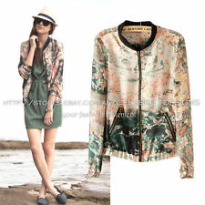 Bomber Hand-wash Only Floral Coats & Jackets for Women