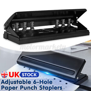 Adjustable 6 Hole Punch Organiser A4 A5 A6 Paper Puncher Diary Storage UK