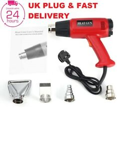 2000W Professional Hot Air Heat Gun Paint Stripper 2 Temp Settings + 4 Nozzle UK