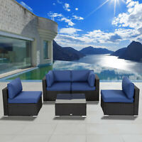 Wicker Patio Sectional Sofa Chair Set Patio Conversation Furniture sets
