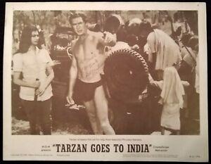 Tarzan Goes To India 1962 Vintage Lobby Card #2 - Signed By Jock Mahoney