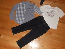 NWT - Nautica 3pc outfit w/long sleeved button down collared shirt & jeans - 2T