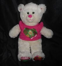 BUILD A BEAR GIRL SCOUTS COOKIE TEDDY W/ SHIRT STUFFED ANIMAL PLUSH TOY BABW