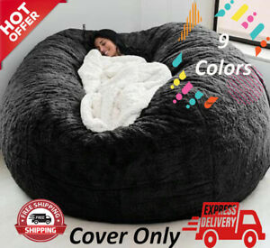 Large Bean Bag Chair Sofa Cover Living Room Without Filing 9 Colors Available