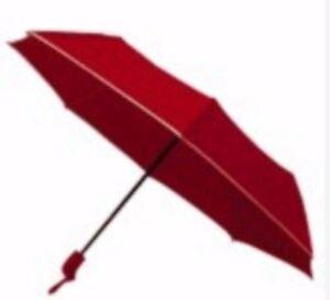 Light Weight Anti-UV Rain Sun Windproof Automatic Umbrella - RED