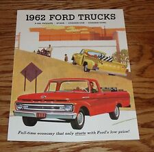 1962 Ford Truck Sales Brochure 62 F-100 Pickup Stake Chassis-Cab Chassis-Cowl