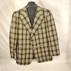 Vintage Eagle Clothes Alex Reoch Frank Pittsburgh Plaid Sports Coat 42R