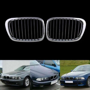 For BMW E39 5 Series M5 1998-2003 Chrome&Black Front Kidney Grille Grills