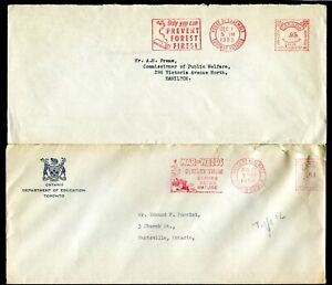 c061 - TORONTO HOUSE OF ASSEMBLY Lot of (2) Covers 1952-55 ILLUSTRATED Slogans