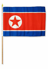 "12x18 12""x18"" Wholesale Lot of 12 Korea Stick Flag wood staff"