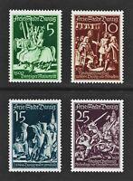 DR Danzig Nazi Reich Rare WW2 Stamp 1938 Danzig Battlefield Knight Horse Postman
