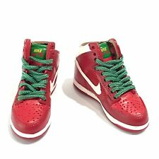 mini sneaker 3D dunk high RED WHITE GREEN 1:6 action figure doll nike M02-47